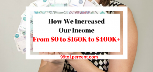 How We Increased Our Income From $0 to $160K to $400K+