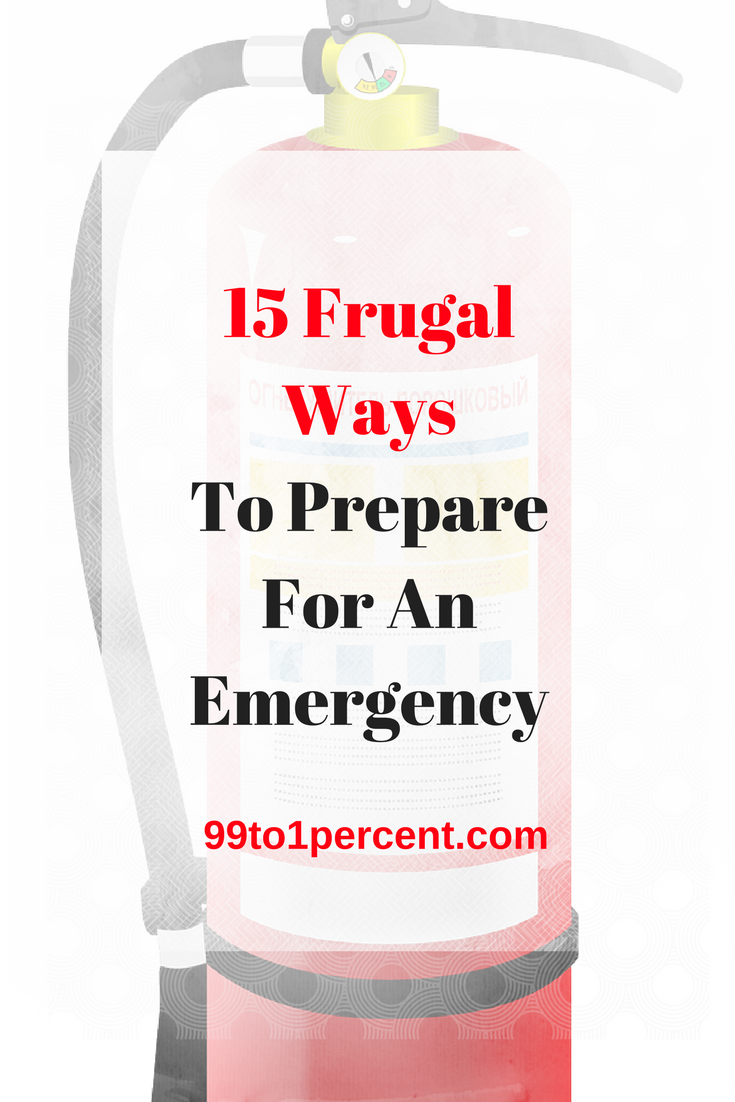 15 Frugal Ways to Prepare for an Emergency