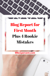Blog Report for First Month Plus 4 Rookie Mistakes
