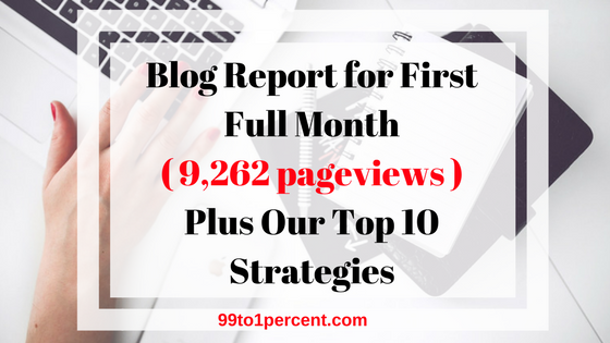 Blog Report for First Full Month Plus Our Top 10 Strategies