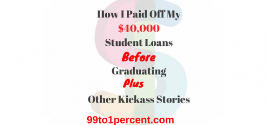 How I Paid Off My $40,000 Student Loans Before Graduating Plus Other Kickass Stories