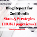 2nd Month Blog Report- Stats & Strategies (10,351 pageviews)