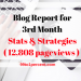 3rd Month Blog Report - Stats and Strategies (12,808 pageviews)